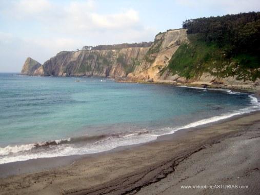 Playa de Oleiros: Vistas desde escaleras