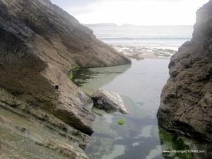 Playa de Arnao, en Castropol: Pozas para baño niños