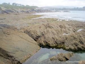 Playa de Arnao, en Castropol: Zona Sur rocosa