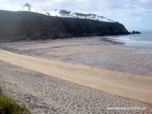 Playa de Barayo en Valdés: Zona occidental