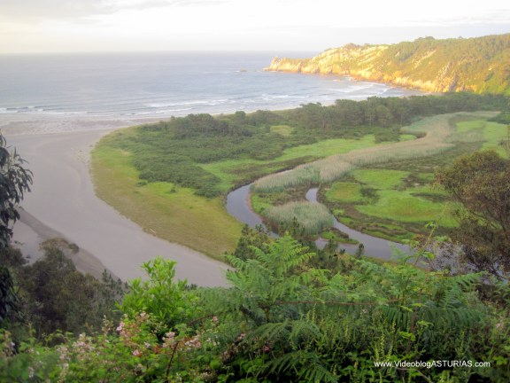 Playa de Barayo en Valdés: Vista frontal