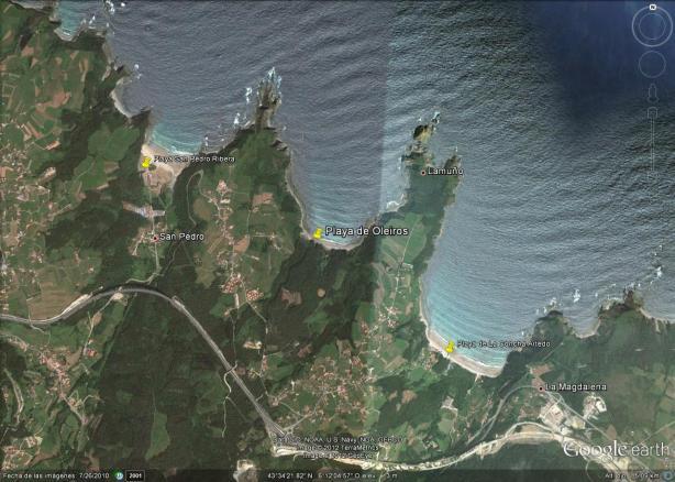 Mapa Playa de Oleiros