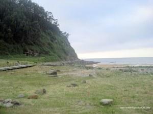 Playa España en Villaviciosa: Zona verde