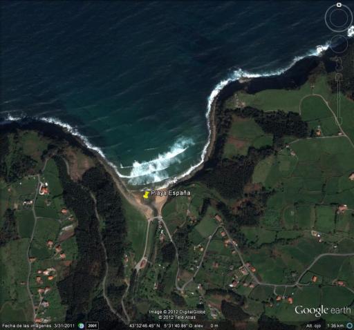 Mapa de Playa España en Villaviciosa