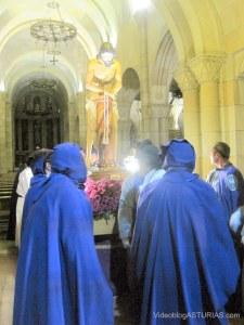 Jesus flagelado regresa a su capilla en Semana Santa Gijon 2012