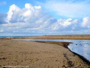 Playa de La Griega en Colunga: Atardecer