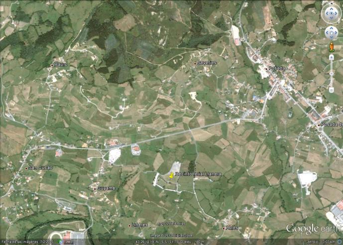 Mapa recinto ferial Llanera