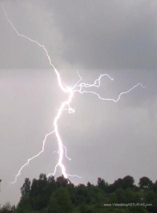 Tormenta electrica Oviedo