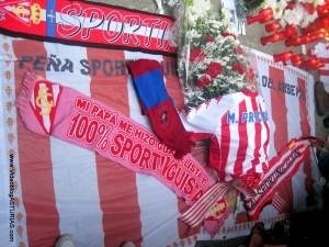 Homenaje a Preciado de aficion Sporting: Bufandas