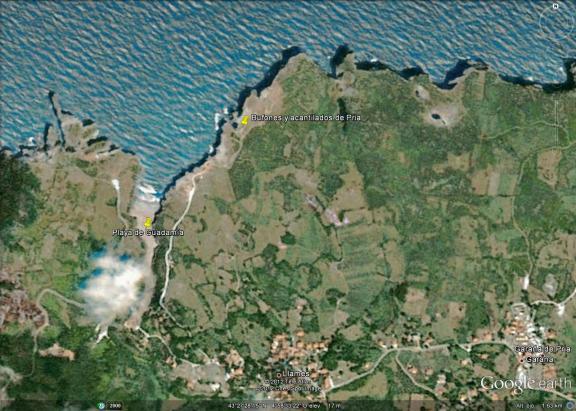 Mapa de Guadamía, Ribadesella-Llanes