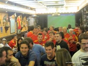 Celebraciones Eurocopa 2012 en Oviedo: Partido en bares