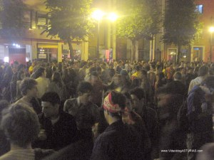 Celebraciones Eurocopa 2012 en Oviedo: plaza America