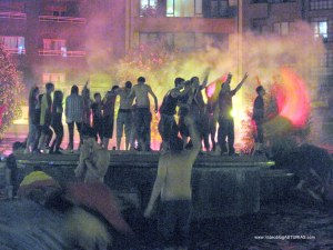 Celebraciones Eurocopa 2012 en Oviedo: Plaza de America