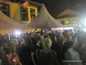 Festival Sidra Nava 2012: carpas calle rio Viao