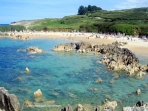 Playa de Toro en Llanes: Bajamar