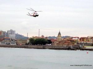 Exhibicion aerea Gijon 2012: Helicoptero Hellimer Cantábrico