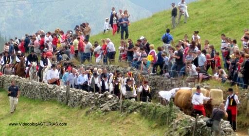 Boda Vaqueira Aristebano: Carro bueyes y comitiva nupcial