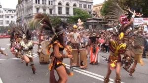 Dia America en Asturias 2012 Oviedo: Adoradores del Sol Mexico