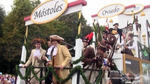 Dia America en Asturias, Mostoles - Oviedo: 2 centenario Constitucion Cadiz