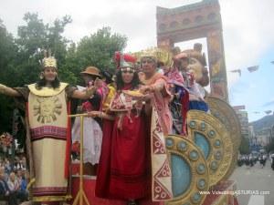 Dia America en Asturias 2012 Oviedo: Reina de America Peru Retrato Mochica