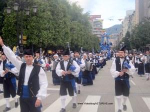 Dia America en Asturias 2012 Oviedo: Banda Gaitas Ciudad Oviedo