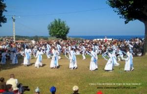 Fiestas de Virgen de Guia, en Llanes: Danza de los Arcos