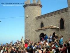 Fiestas de Virgen de Guia, en Llanes: Regreso a ermita bajo panderetas