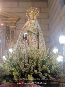 Fiestas de Virgen de Guia, en Llanes: Virgen de Guia