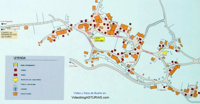 Mapa, vídeo y fotos de Bueño (Ribera de Arriba) Pueblo ejemplar Asturias 2012