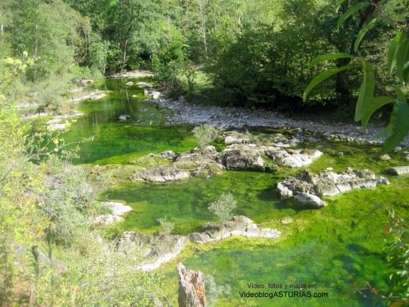 Video, fotos y mapa Hoya de San Vicente y rio Dobra: Inicio ruta