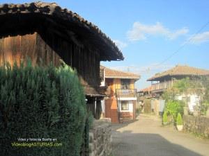 Bueño (Ribera de Arriba)  pueblo ejemplar Asturias 2012: Paseo horreos Bueño