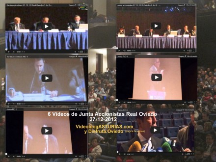6 videos Junta accionistas Real Oviedo 27-12-2012