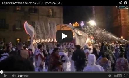 Vídeo y fotos Carnaval antroxu Aviles 2013