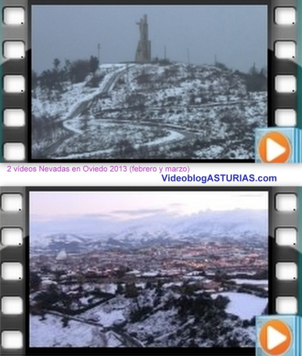 2 Videos y fotos Nevadas de Oviedo 2013 (febrero y marzo)