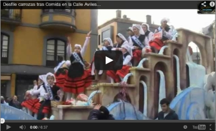 Desfile Carrozas Comida en la calle Aviles 2013, Video y fotos
