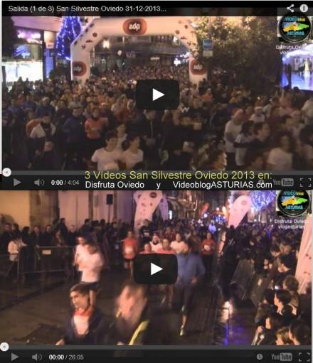 3 videos San Silvestre 31-12-2013 Oviedo